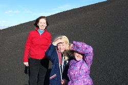 Valerie, Emma and Sarah at Craters of the Moon