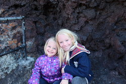 Emma and Sarah at Craters of the Moon