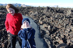 Emma and Valerie at Craters of the Moon