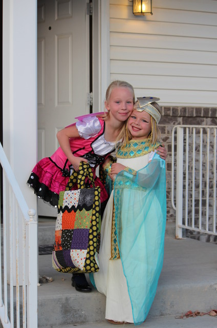 Emma and Sarah on Halloween