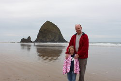 Steve and Sarah at Cannon Beach