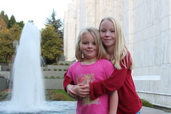 Emma and Sarah at the Portland Temple