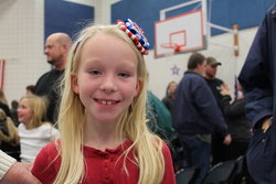 Emma after her Veterans' Day program